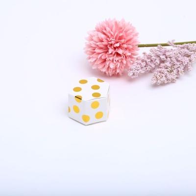 땡땡이골드 육각 상자 선물 포장 케이스 박스 답례품