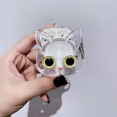에어팟 pro 2 1 투명 고양이 캐릭터 젤리 하드 케이스