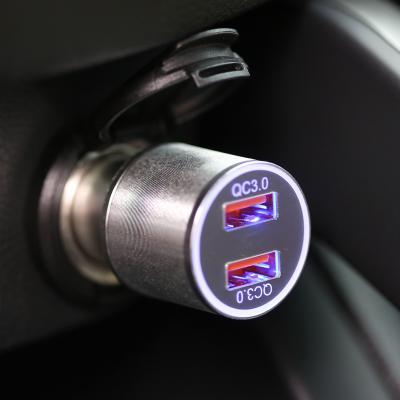 단순생활 퀄컴 차량용 고속 충전기 2포트 실버