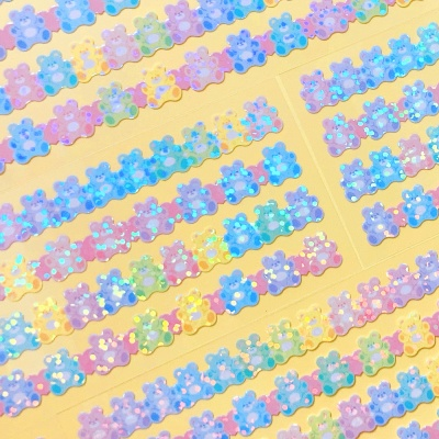 트윙클 Bear Line 칼선 스티커