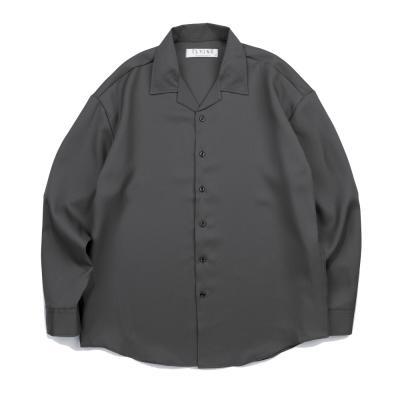 CB 157 솔리드 오픈셔츠 (다크그레이)