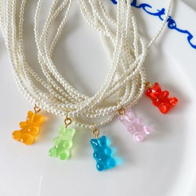 Gummy Bear Pearl Necklace