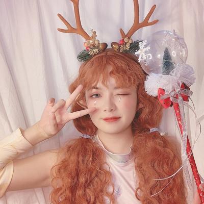 루돌프 사슴 뿔 머리띠 놀이공원 파티 크리스마스
