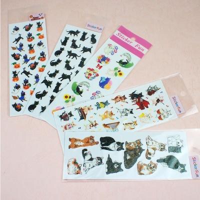 스티커펀 고양이 글리터 스티커(st138)
