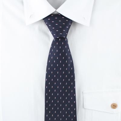 네이비 자동 넥타이 N507