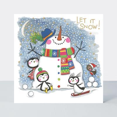 [빛나파티]눈사람 스카프 크리스마스 카드
