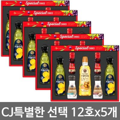 CJ 특별한선택 선물세트 12호 (5개묶음)