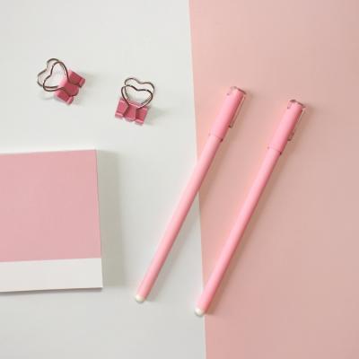 예쁜 핑크 펜 볼펜 얇은 다꾸 필기감좋은 중성펜 판촉