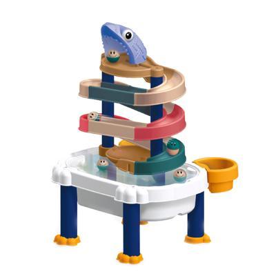 레츠토이 워터슬라이드 타워 레일 장난감 목욕놀이