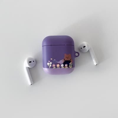 purple flower bed [hard 에어팟케이스]
