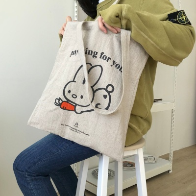 rabbit and carrot ecobag  토끼 오트밀 에코백