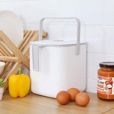위생적인 분리형 배수채반 밀폐형 음식물 쓰레기통 3L