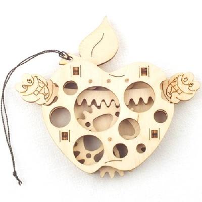 사과 (WDT190159)우드토이 3D 목재퍼즐