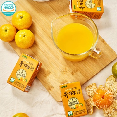 [청정제주] 새콤달콤 유기농 감귤주스 135mlx24팩