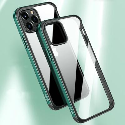 아이폰XR XS MAX 컬러라인 범퍼 투명 강화유리 케이스