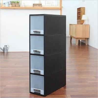 [FINE SYSTEM] 화인 블랙스탭서랍박스 18(1호 4단)