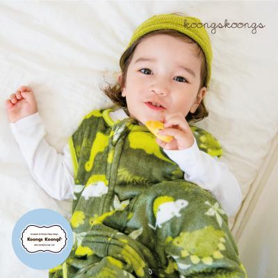 [극세사]디노포레스트 극세사수면조끼 유아수면조끼 아동수면조끼