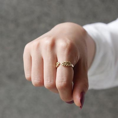 바이데이지 SR058 월계수 나뭇잎 오픈형 반지