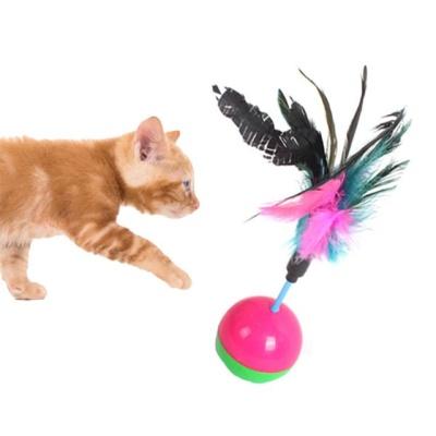 고양이장난감 펑키 깃털 오뚜기 1P(색상랜덤)