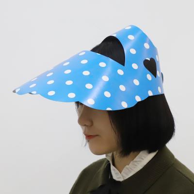 도트 종이모자 선캡 (블루)