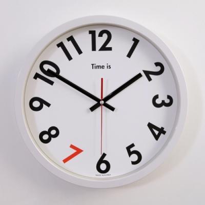 포인트 엣지 저소음 벽시계 (화이트) 시계 추카추카넷