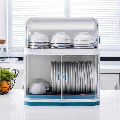 식기건조대 대용양 그릇 수납장 덮개형