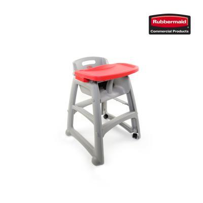 러버메이드 유아용 식탁의자 풀세트 의자+트레이+바퀴