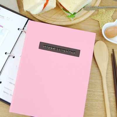나만의 맛있는 기록 제이로그 레시피북 바인더-베이비핑크