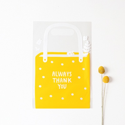 패키징 선물포장 비닐백(중) 01.젤리옐로우(5매)