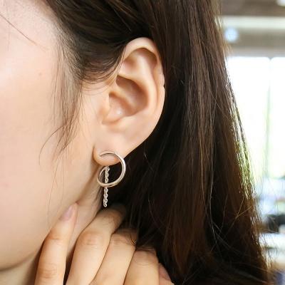 i_e67 - ring ??twist chain earring