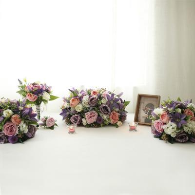 꽃볼 센터피스SET - 보라빛 클레마티스