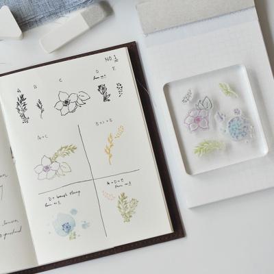 Miccudo 콜라주 클리어 스탬프 (3. Lychee Flower)