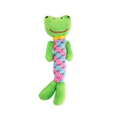 반려동물 장난감 개구리 실타래 장난감 1개
