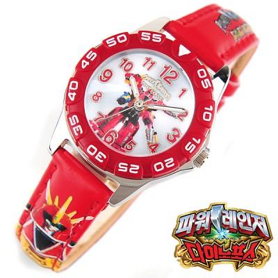 [파워레인저 다이노포스] L-343-4D RD 티라노킹 아동용 캐릭터 손목시계[본사정품]