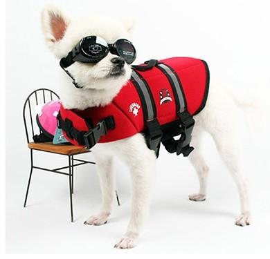 프리미엄 애견 구명조끼 네오프렌도기 라이프자켓 레드, 강아지/애견 수영장 필수품, Neoprene Doggy Life Jacket