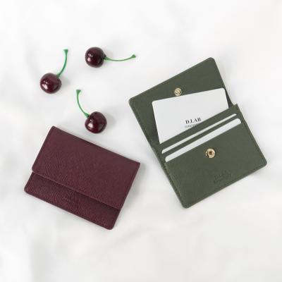 D.LAB [키링증정] flip simple card wallet - 4color