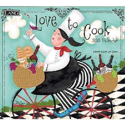 2018 벽걸이 달력 - Love To Cook