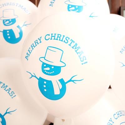 크리스마스풍선30cm - 눈사람(화이트)
