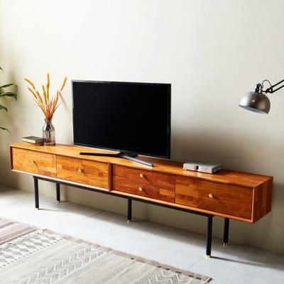 큐브M 2400 프레임 거실장 티비선반