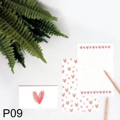 DNF 사랑스러운 하트 편지지 리본 P09 1개