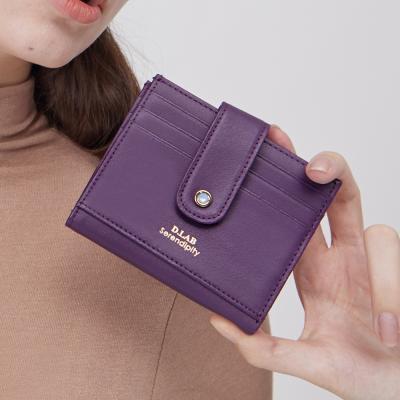 (탄생석지갑) Fiore Half Wallet - Purple