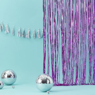 핫핑크 프린지 파티커튼 Fringe party Curtain GR