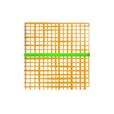 형광 오렌지체크 포장지 (2장)
