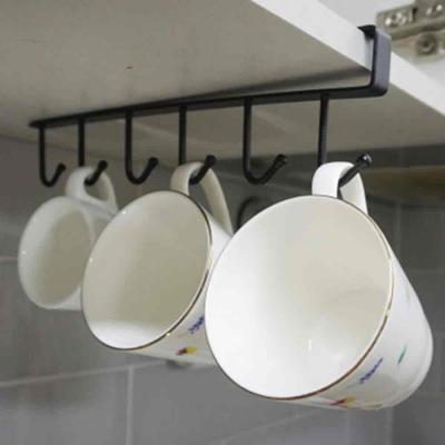 진주리빙 간편 주방 수납 클립형 컵 걸이