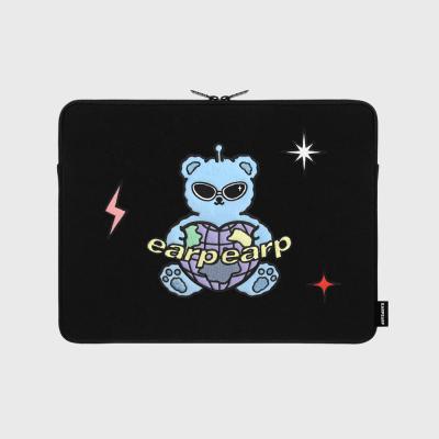 Space night bear-black(13인치 노트북파우치)