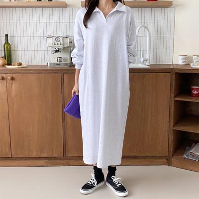 Collar Cotton Long Dress