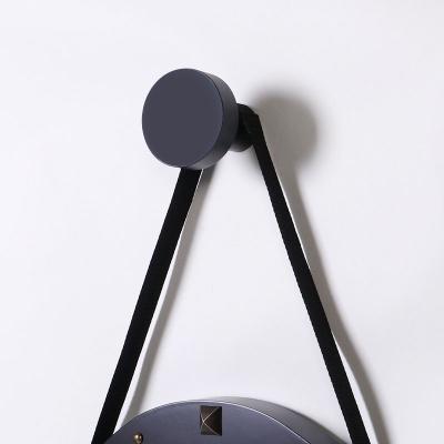 스칸-우드 스트링 벽시계 300-블랙