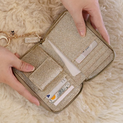 D.LAB Twinkle Zipper Wallet - Sand Gold