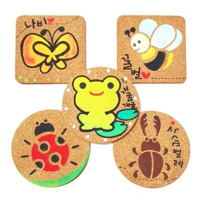 봄개구리와곤충스텐실컵받침만들기(5인용)