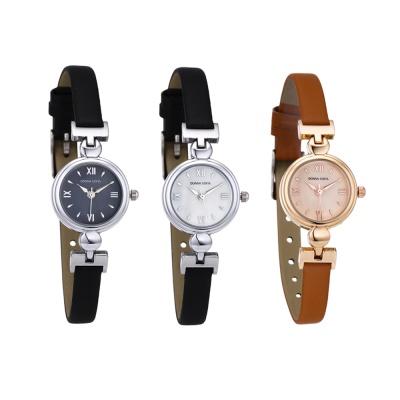 도나소피아 가죽 여성 손목시계 패션 게르마늄 DS042